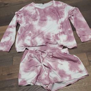 Tye-Dye Lounge Shorts Set